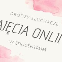 Zajęcia online – do odwołania