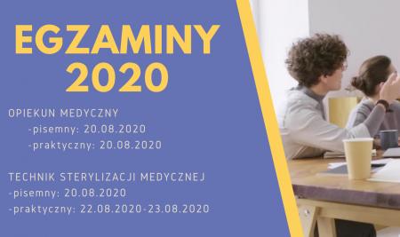 Egzaminy – sesja lato 2020 (lipiec-sierpień)